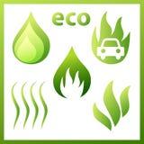 Падение установленное значками, газ, листы, Стоковое фото RF