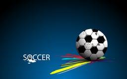Падение футбола на траве и кисти и чернил scoreboardfootball абстрактное конструирует предпосылку иллюстрация вектора