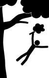 Падение человека от дерева Стоковая Фотография