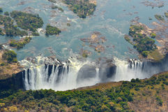 Падения вида с воздуха водопада Виктории Стоковые Фотографии RF