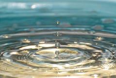 4 падения воды подробно Стоковое Изображение RF