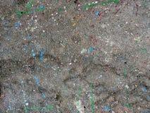 Падения краски на асфальте Стоковое Изображение
