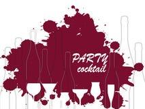 Падения красного вина Стоковые Изображения RF