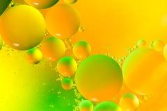 Падения масла на воде Стоковые Фото