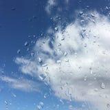 Падения дождя на окне Стоковые Изображения RF