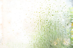 Падения дождя на стеклянной предпосылке Стоковая Фотография