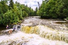 падения понижают tahquamenon Стоковая Фотография