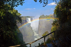 Падения радуги водопада Виктории Стоковая Фотография