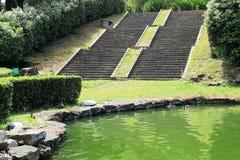 Падения садовничают в озере Eur, Риме Стоковое Изображение