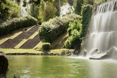 Падения садовничают в озере Eur, Риме Стоковые Фотографии RF
