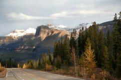 Падения Athabasca, канадские скалистые горы Стоковая Фотография