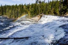 Падения Dawson, парк Wells серый захолустный, ДО РОЖДЕСТВА ХРИСТОВА, Канада Стоковая Фотография