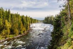 Падения Dawson, парк Wells серый захолустный, ДО РОЖДЕСТВА ХРИСТОВА, Канада Стоковые Изображения RF