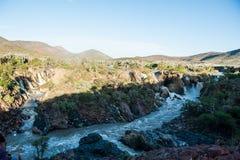 Падения Epupa, Намибия, Африка Стоковое Изображение RF