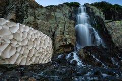 Падения Timberline - национальный парк скалистой горы Стоковые Изображения RF