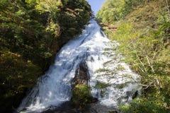 Падения Yudaki, Nikko, Tochigi, Япония Взгляд от смотровой площадки ниже Стоковое Фото