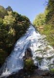 Падения Yudaki, Nikko, Tochigi, Япония Взгляд от смотровой площадки ниже Стоковое фото RF