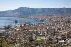 Палермо - внешний вид над городом и гаванью Стоковое Изображение