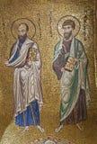 Палермо - мозаика апостола Пола и Джейкоба от в церков dell Ammiraglio Santa Maria Стоковые Изображения RF