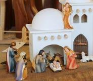 Палестинская сцена рождества с святой семьей установила в средний ea Стоковое Изображение RF