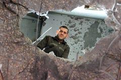 Палестинские нападения ракеты на Израиле Стоковые Изображения RF