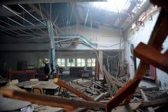 Палестинские нападения ракеты на Израиле Стоковые Фотографии RF