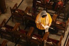 Палестинские христиане на церков St Porphyrius в Газа стоковая фотография rf