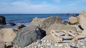 Паллет пляжа стоковое фото rf
