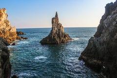 Палец горы бога на пляже стоковые изображения rf
