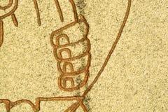 Палец на камне Стоковое Фото