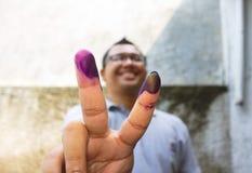 Палец чернил маркированный Стоковое Изображение RF