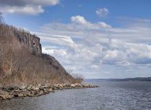 Палисады Нью-Джерси и Гудзон Стоковые Изображения