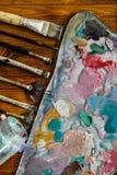 Палитра красок масла стоковые изображения