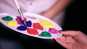 Палитра красок сток-видео