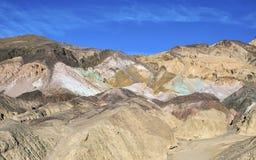 Палитра художников на национальном парке Death Valley, CA Стоковое фото RF