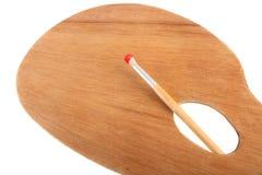 Палитра художников с paintbrush Стоковая Фотография RF