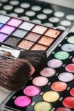 Палитры eyeshadow состава цветастые с составом чистят Стоковые Фото