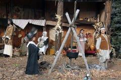 Паломники и коренные американцы Стоковая Фотография