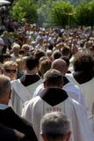 Паломники на религиозном St Ivo в Podmilacje, Jajce события Стоковые Фотографии RF