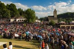 Паломники на религиозном St Ivo в Podmilacje, Jajce события Стоковое Изображение