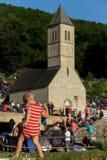 Паломники на религиозном St Ivo в Podmilacje, Jajce события Стоковая Фотография RF