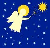 палочка вектора иллюстрации ангела волшебная Стоковое фото RF
