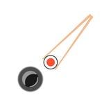 палочки держа суши крена Стоковое фото RF