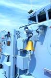 Палуба военного корабля Стоковые Изображения
