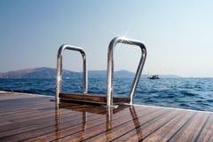 Палуба и море Стоковая Фотография