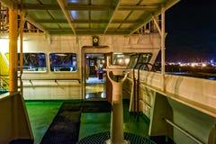 Палуба моста крыла корабля фрахтовщика Стоковая Фотография RF