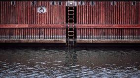Палуба на реке, Гданьске, Польше Стоковые Изображения