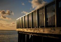 Палуба Острова Кука на заходе солнца Стоковое фото RF