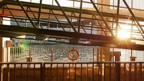 Палуба парома в пристани Стоковые Фотографии RF