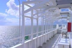 Палуба парома моря Стоковые Изображения RF